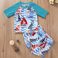 Boy's Two Piece Swimsuit