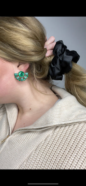 Emerald Statement Stud Earring