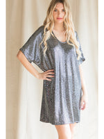 Sequin Short Sleeve Dress