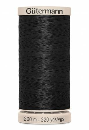 Gutermann Hand Quilting Thread 5201 Black
