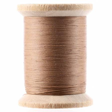 Cotton Hand Quilting Thread 3-Ply 400yd Light Brown