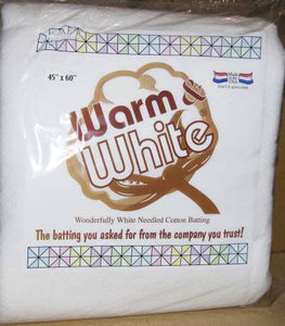 Batting -  Warm and White Package - Baby