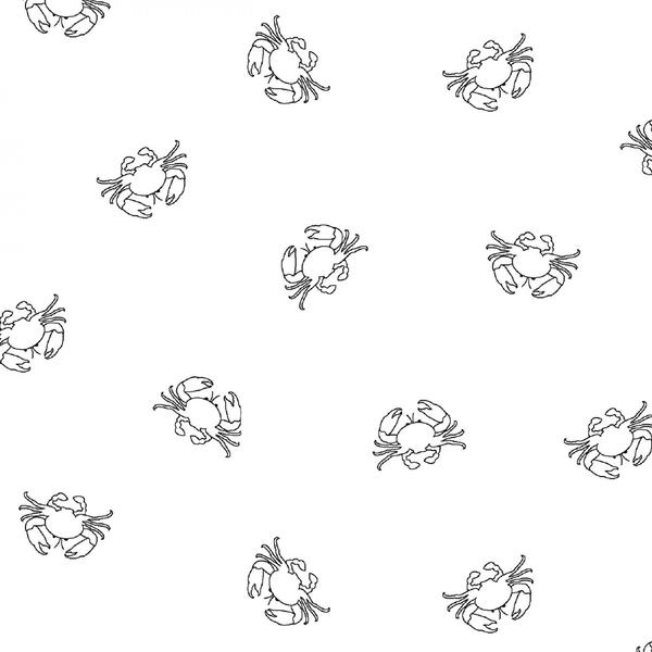 Ramblings Fun - Crabs - White on White
