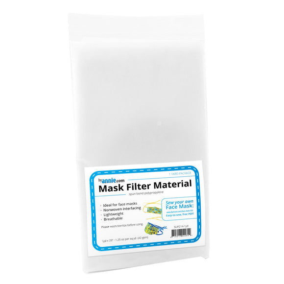 Mask Filter Material (Polypropylene) - 1yd x 20in