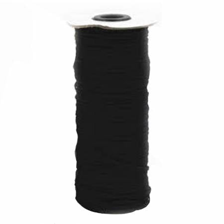 "10 m. of  1/8"" Black Flat Elastic"