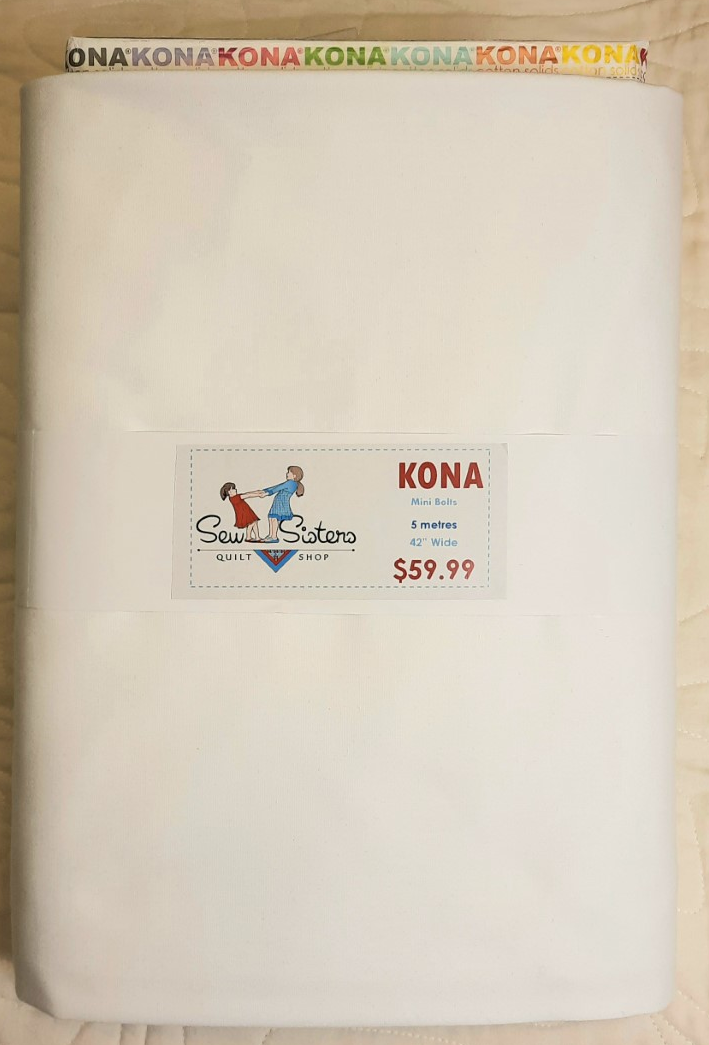 Kona Cotton - White  - Mini Bolt