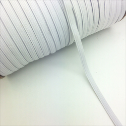 "10 m of  1/4""  (6 mm) White  Elastic"