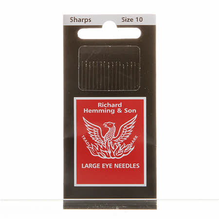 Richard Hemming Sharps Needles Size 10