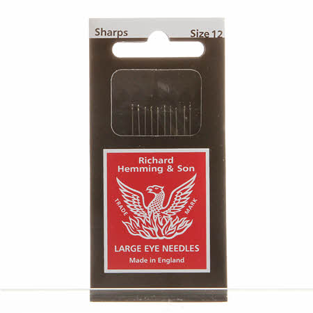 Richard Hemming Sharps Needle Size 12 10ct