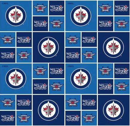 Winnipeg Jets NHL Hockey Craft Fabric