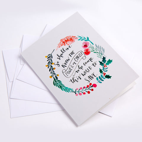 Christmas Card with Hand Written Note from Audrey Assad