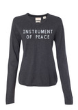 Instrument of Peace Women's Sweater (Charcoal)