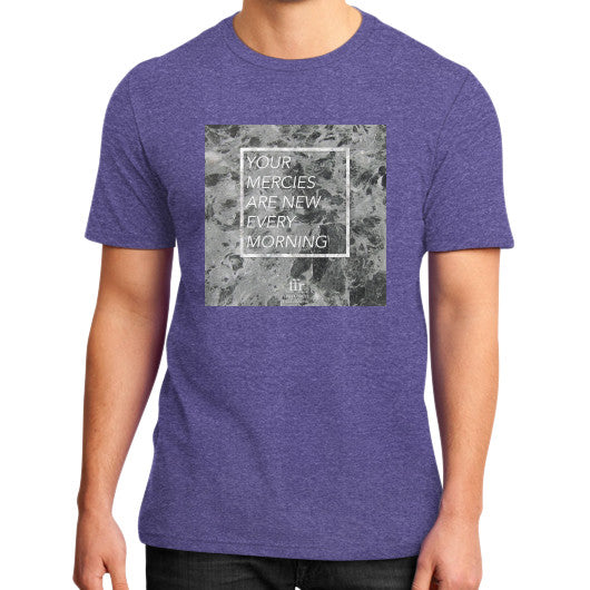 District T-Shirt (on man) Heather purple Audrey Assad Store