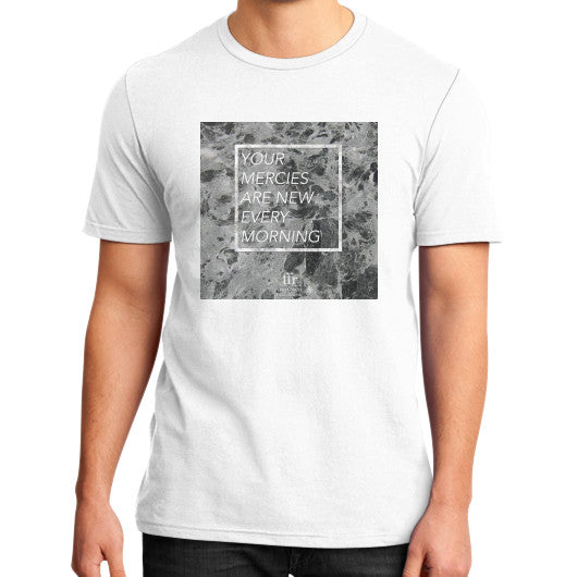 District T-Shirt (on man) White Audrey Assad Store