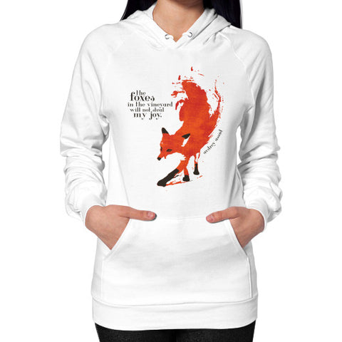 Foxes Unisex Hoodie (on woman) White Audrey Assad Store