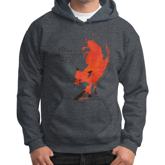 Gildan Hoodie (on man) Dark heather Audrey Assad Store