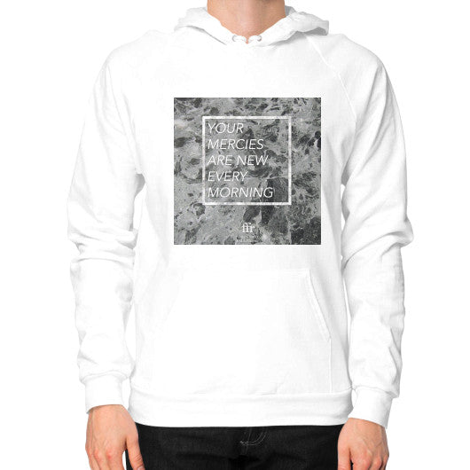 Hoodie (on man) White Audrey Assad Store