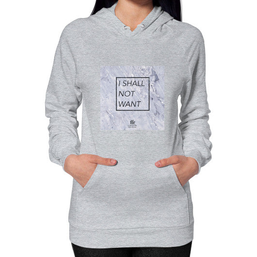 Hoodie (on woman) Heather grey Audrey Assad Store