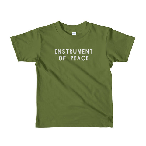 Instrument of Peace Short Sleeve Kids T