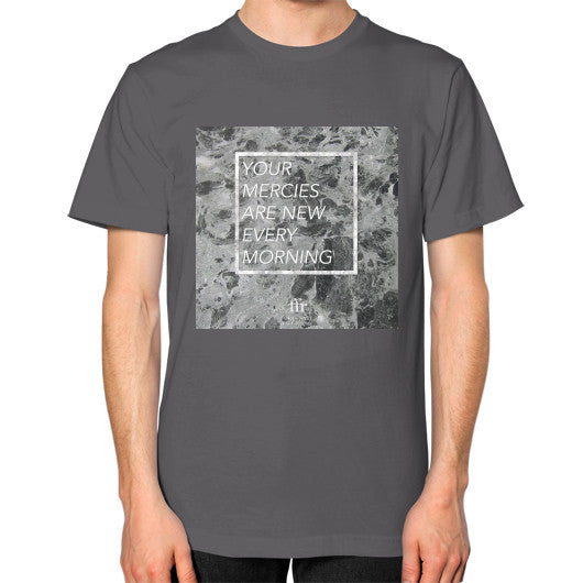 Unisex T-Shirt (on man) Asphalt Audrey Assad Store