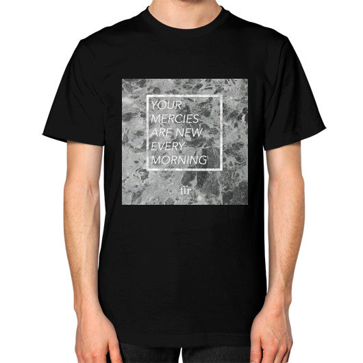 Unisex T-Shirt (on man) Black Audrey Assad Store