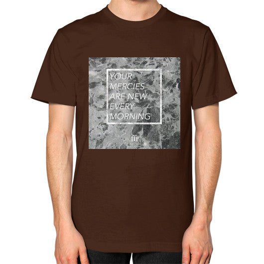 Unisex T-Shirt (on man) Brown Audrey Assad Store