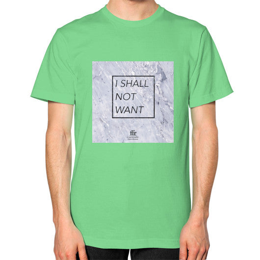 Unisex T-Shirt (on man) Grass Audrey Assad Store