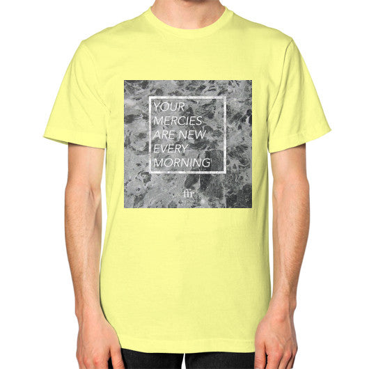 Unisex T-Shirt (on man) Lemon Audrey Assad Store