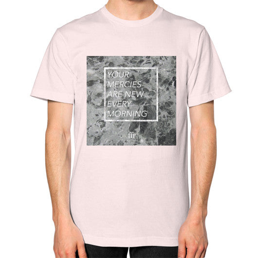 Unisex T-Shirt (on man) Light pink Audrey Assad Store