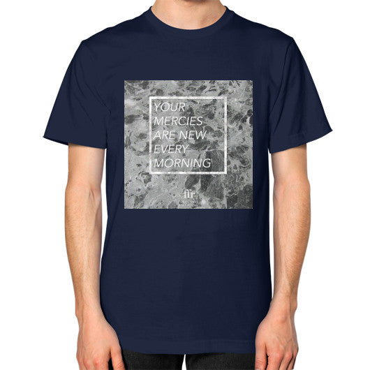 Unisex T-Shirt (on man) Navy Audrey Assad Store