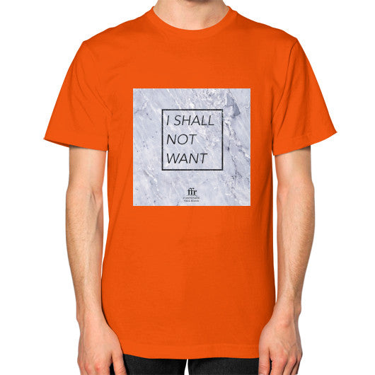 Unisex T-Shirt (on man) Orange Audrey Assad Store