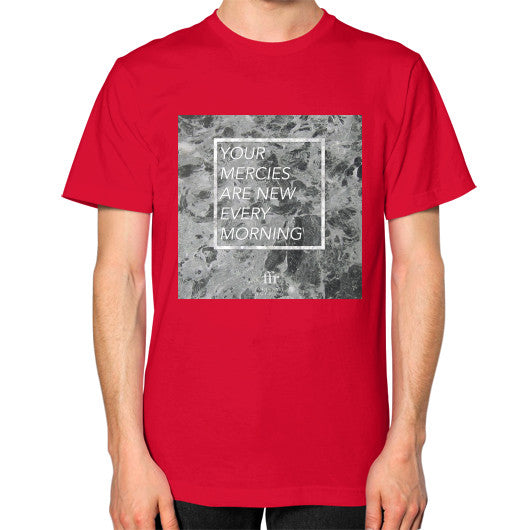Unisex T-Shirt (on man) Red Audrey Assad Store
