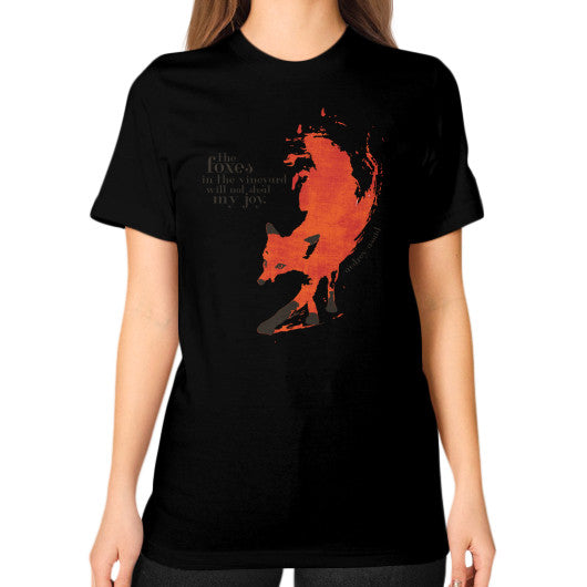 Unisex T-Shirt (on woman) Black Audrey Assad Store