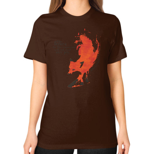 Unisex T-Shirt (on woman) Brown Audrey Assad Store