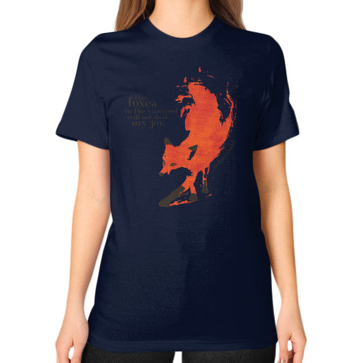 Unisex T-Shirt (on woman) Navy Audrey Assad Store