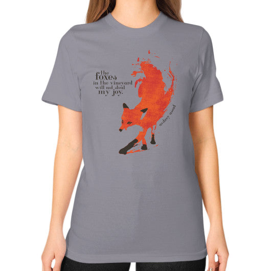 Unisex T-Shirt (on woman) Slate Audrey Assad Store