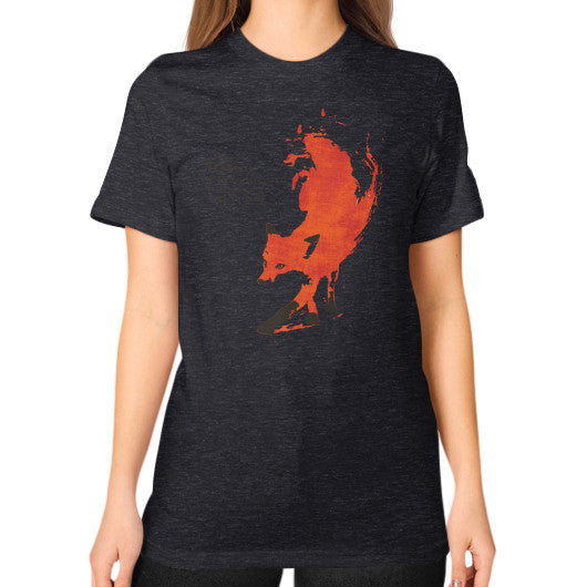Unisex T-Shirt (on woman) Tri-Blend Black Audrey Assad Store