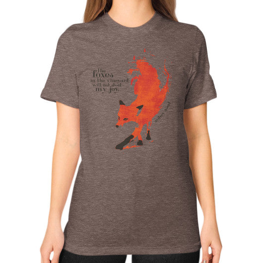 Unisex T-Shirt (on woman) Tri-Blend Coffee Audrey Assad Store