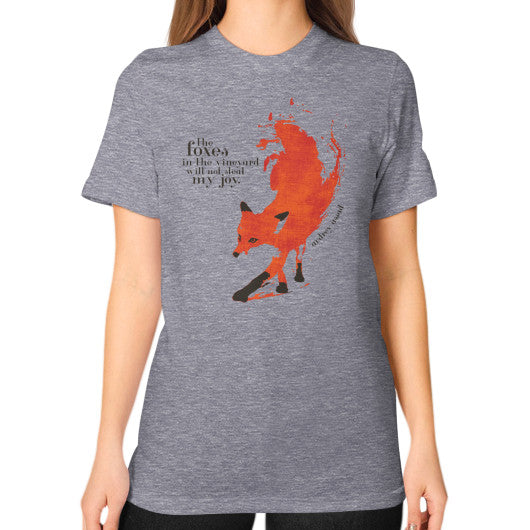 Unisex T-Shirt (on woman) Tri-Blend Grey Audrey Assad Store