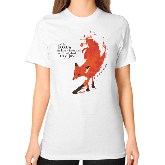Unisex T-Shirt (on woman) White Audrey Assad Store