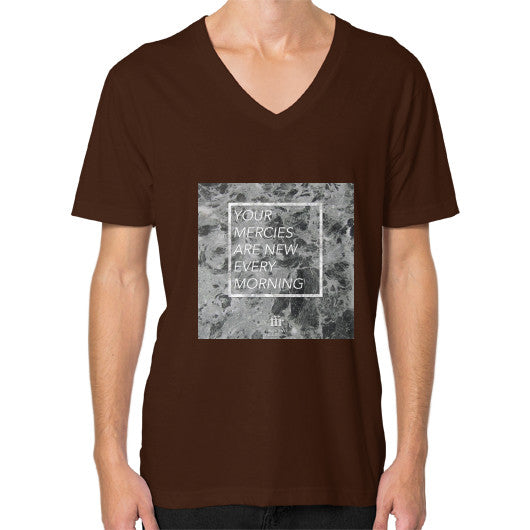 V-Neck (on man) Brown Audrey Assad Store