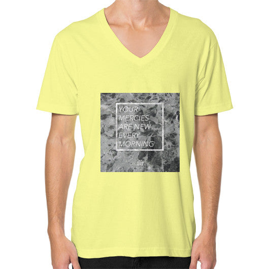 V-Neck (on man) Lemon Audrey Assad Store