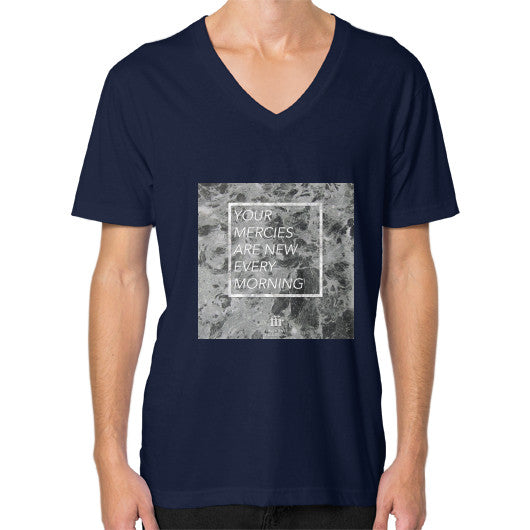V-Neck (on man) Navy Audrey Assad Store