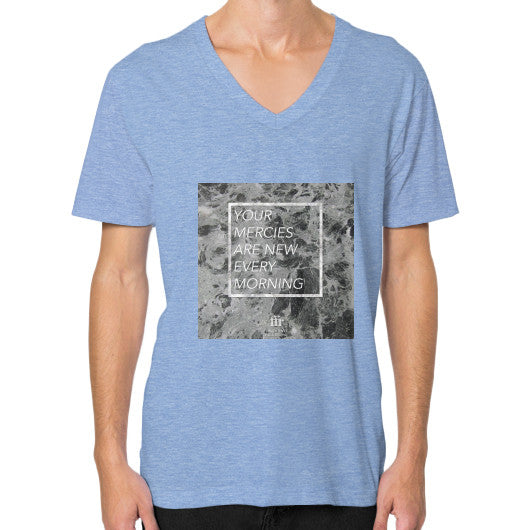 V-Neck (on man) Tri-Blend Blue Audrey Assad Store