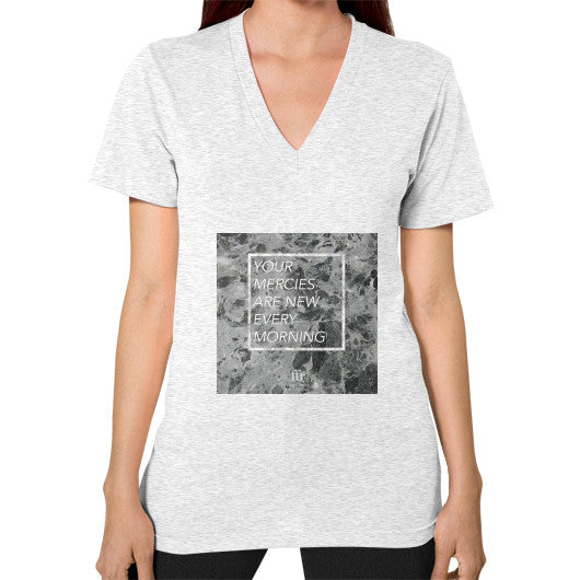 V-Neck (on woman) Ash grey Audrey Assad Store