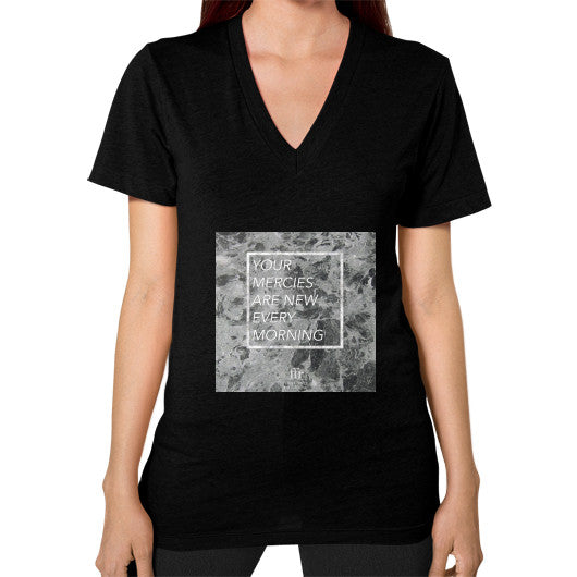 V-Neck (on woman) Black Audrey Assad Store