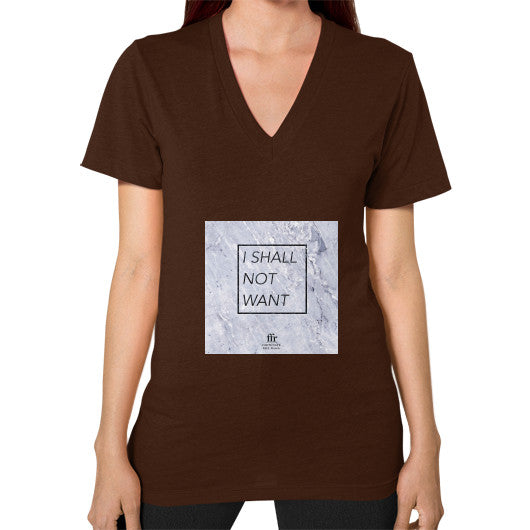 V-Neck (on woman) Brown Audrey Assad Store