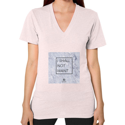 V-Neck (on woman) Light pink Audrey Assad Store