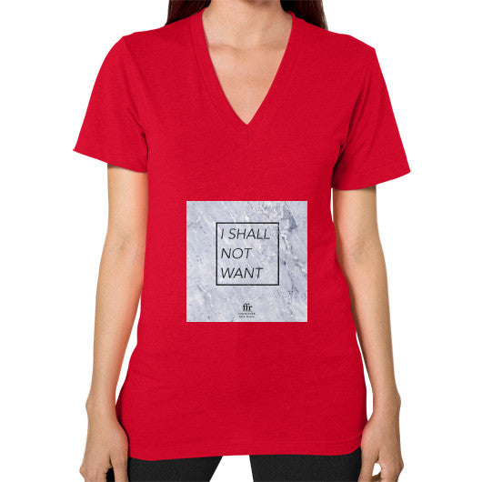 V-Neck (on woman) Red Audrey Assad Store