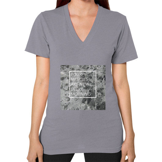 V-Neck (on woman) Slate Audrey Assad Store